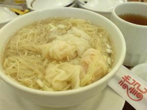 Delicious wonton noodle soup!