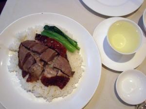 烧鹅饭 (Roasted goose rice)