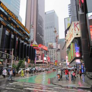 the vibrant Times Square
