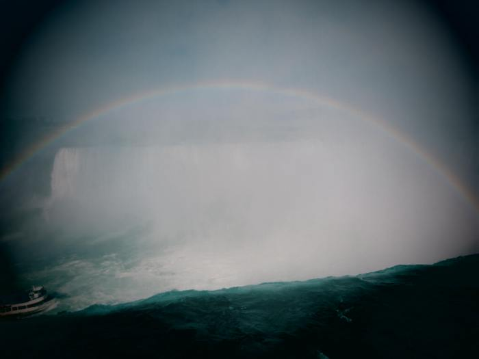 Rainbow at the spectacular Horseshoe Falls
