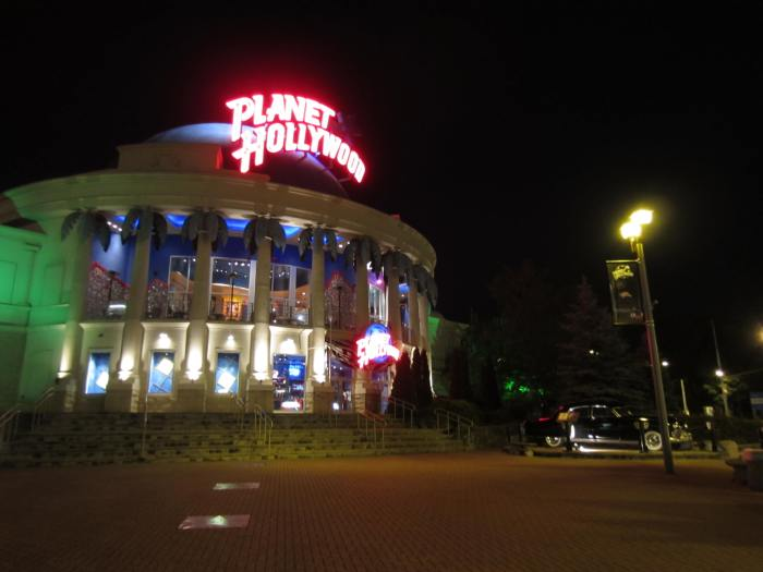 Planet Hollywood is further down the street, but was closed by the time we reached at 10pm...