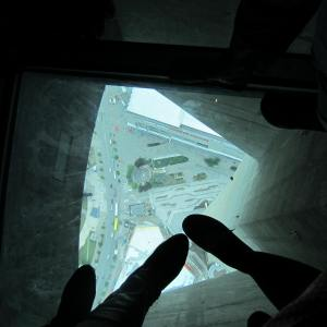 Looking down from the Glass Floor