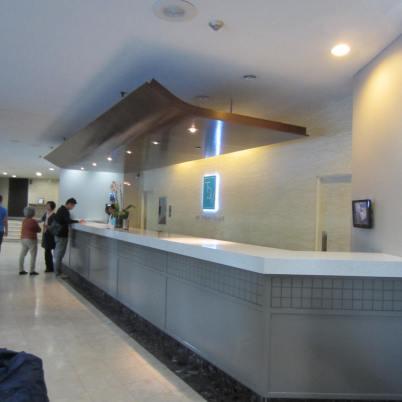 Simple hotel lobby & reception