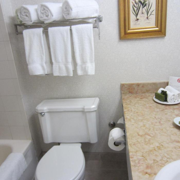The tiny & dated bathroom
