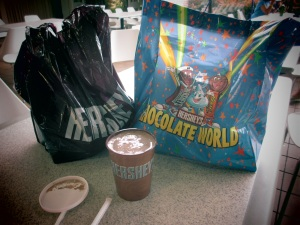 Awesome Special Dark Shake with our bags of chocolates to bring home :)