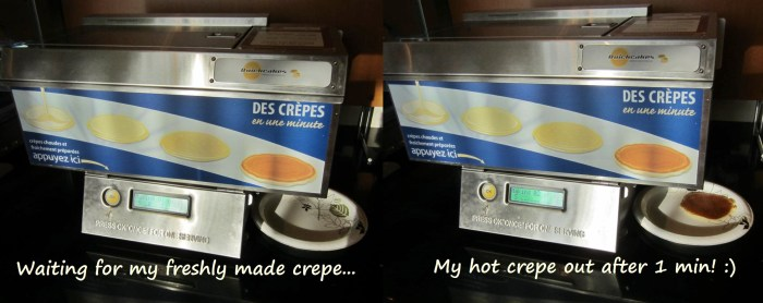 Fresh hot crepes in 2 min!
