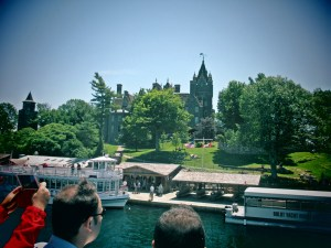 Seeing other boats docking at Boldt Castle