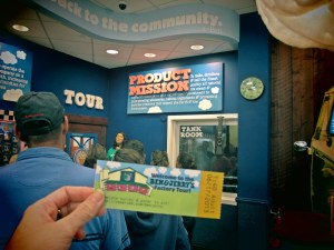 The tour guide introducing herself to the group in the background & our ticket in front ;)