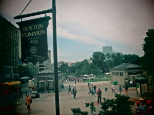 Boston Common - the starting point of the Freedom Trail & the oldest park in US of abt 50 acres in size