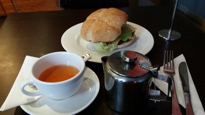 Soul Burger & hot Arabic Honey Tea