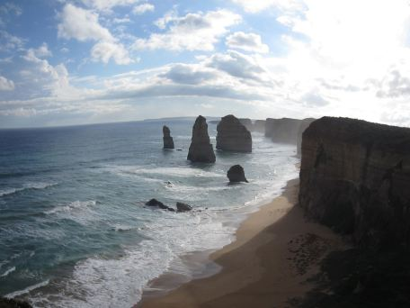 Fish-eye view of the Twelve Apostles