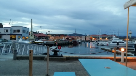 The waterfront view at 5.02pm
