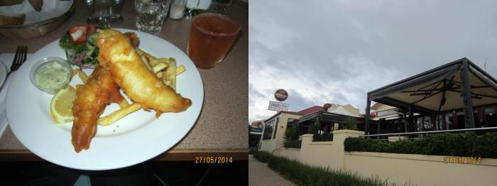 Sumptuous Beer Battered Fish & Chips lunch @Apollo Bay Hotel Restaurant