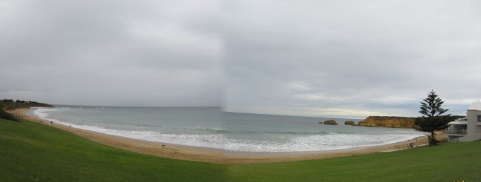 Panoramic view of Bells Beach (stitched 2 photos up)