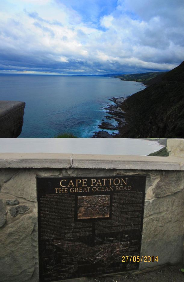 Cape Patton lookout - spectacular views of the coastline stretching to Apollo Bay