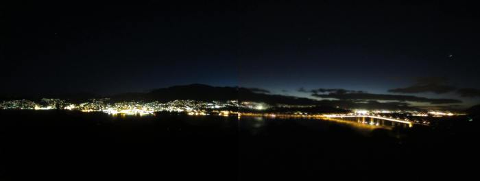 A panorama view of Hobart city from the lookout