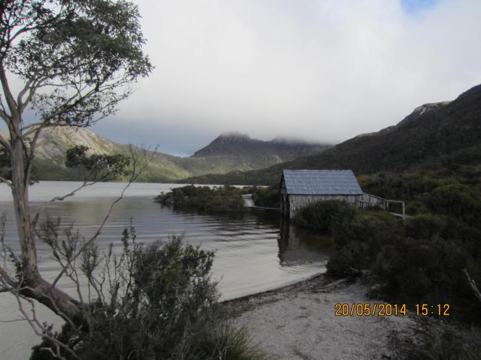 The famous boatshed, boating was popular on the lake till the 1960s