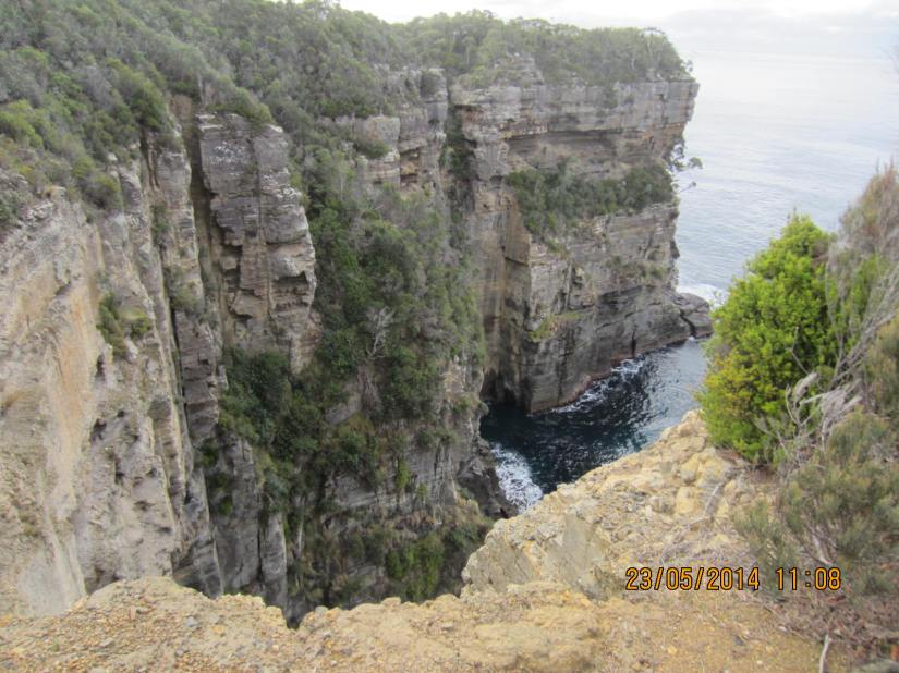 View from the first lookout along the Waterfall Bay Walk