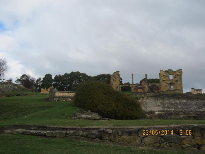 The Penitentiary from a distance, currently undergoing major conservation works