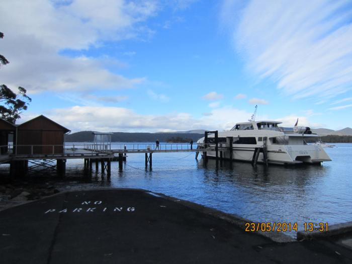 The ferry dock with the boat for the harbour cruise