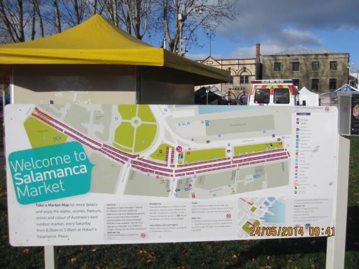 Salamanca Market gigantic map