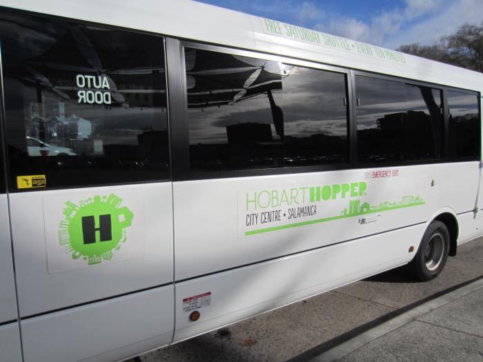 The free Hobart Hopper shuttle bus