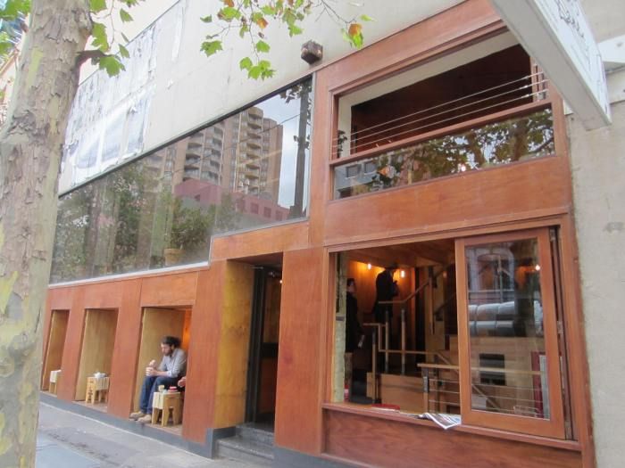 The quaint Flipboard Cafe at 141 La Trobe Street
