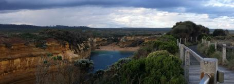 Panoramic view of the Loch Ard Gorge