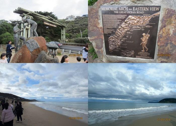 The Memorial Arch & coastline