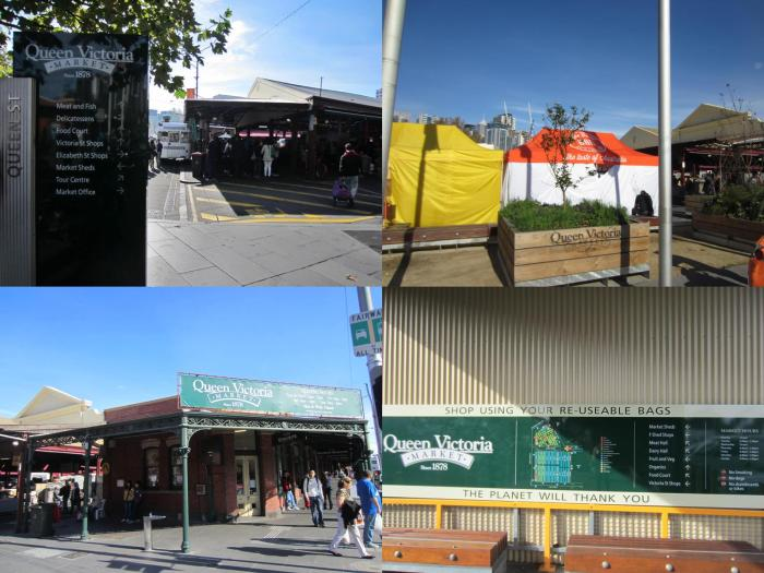 Different views of the famous Queen Victoria Market