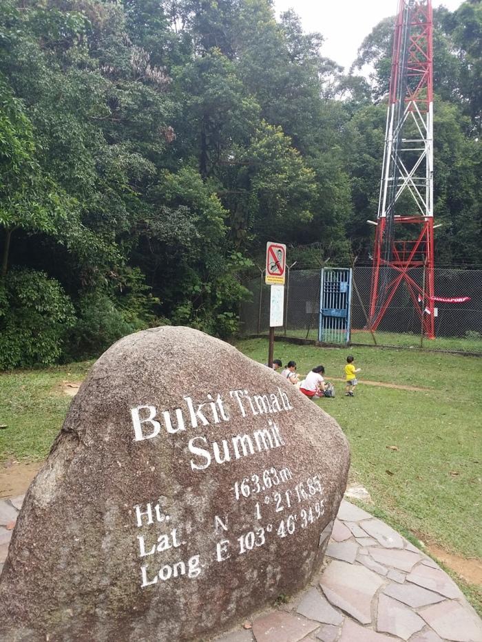 View at the Bukit Timah Summit