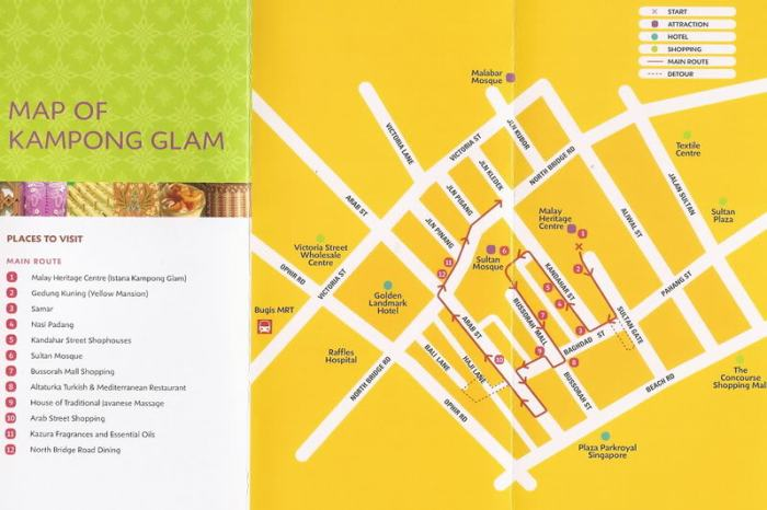 Map of Kampong Glam trail
