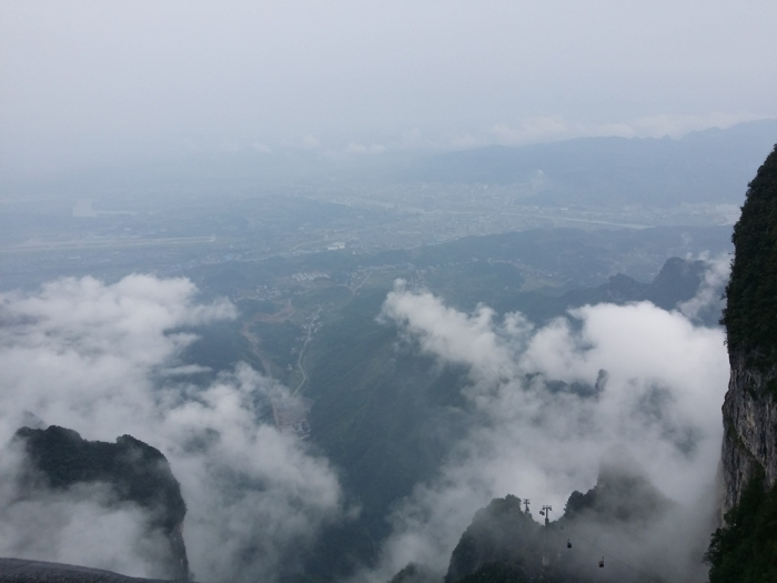 Yay! Stunning sea of clouds (云海) at the peak as we arrived :)