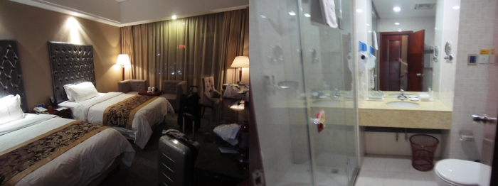 Our hotel room + toilet