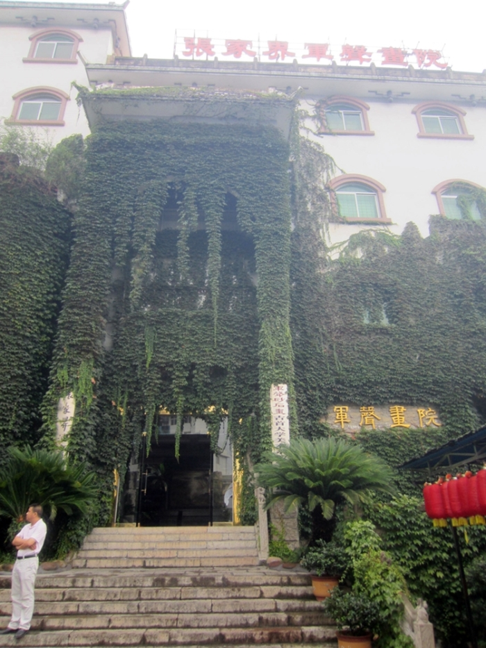 Junsheng Painting Gallery - all covered with greenery to demonstrate its eco-friendliness? ;)