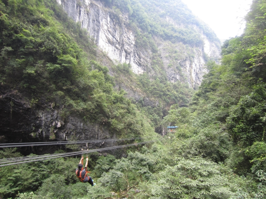 "Fly through the canyon with the ""flying fox"" (RMB 30)"