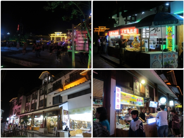 Different views of the tourist street