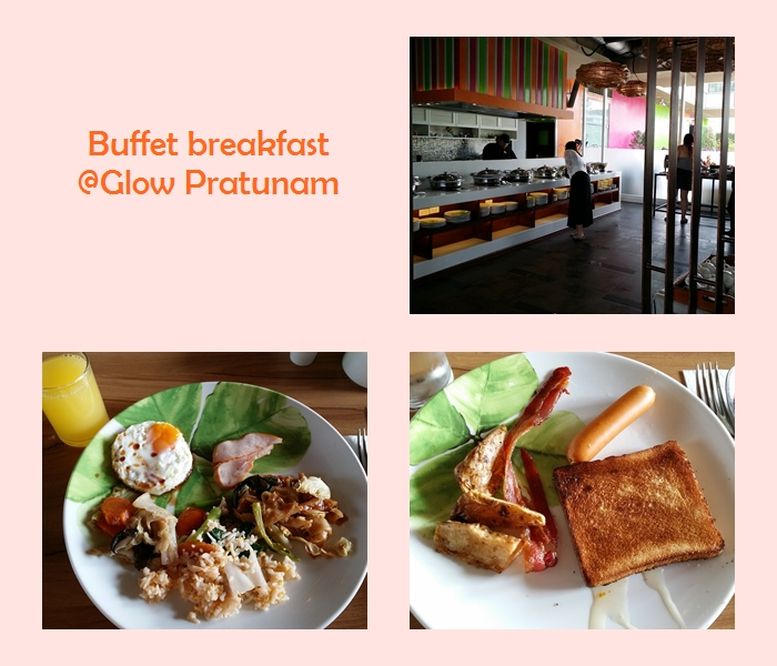 Glow Pratunam Hotel breakfast