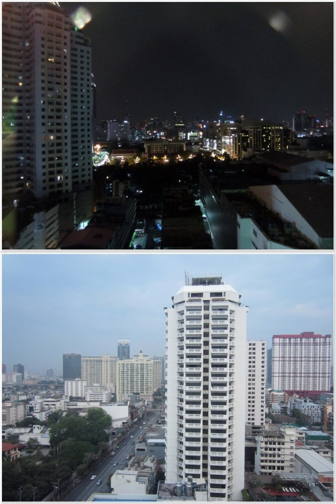 (Top) night view (Bottom) day view