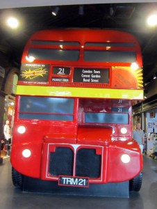 London's red double deck bus