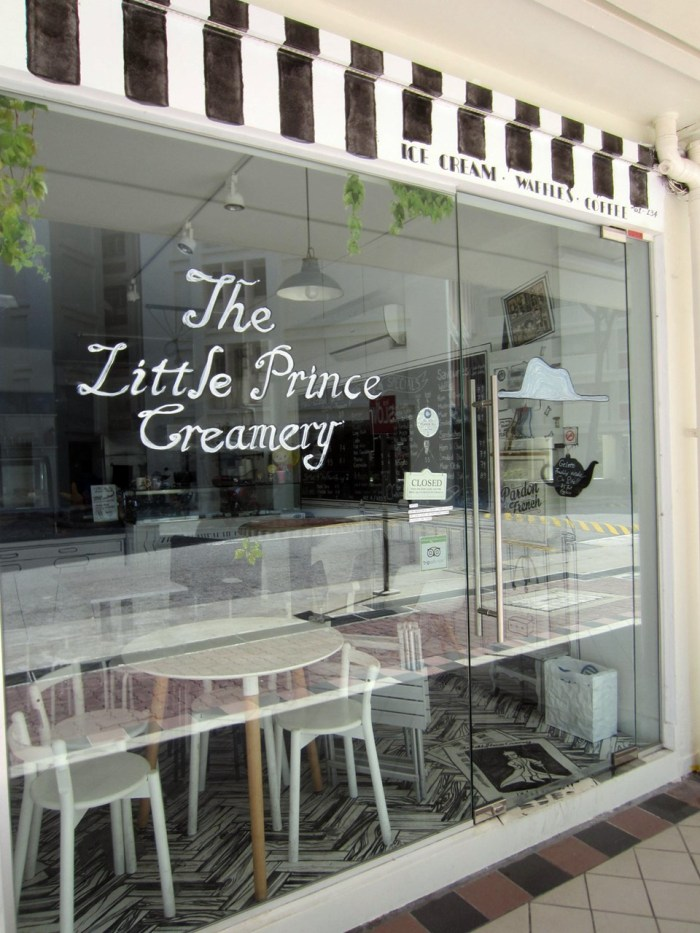 The Little Prince Creamery - taken on Tues when it's closed