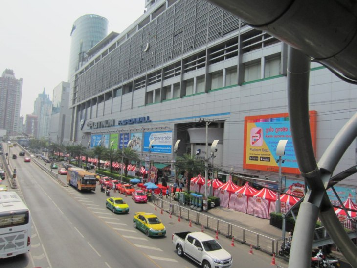 View of Platinum Fashion Mall from the skywalk
