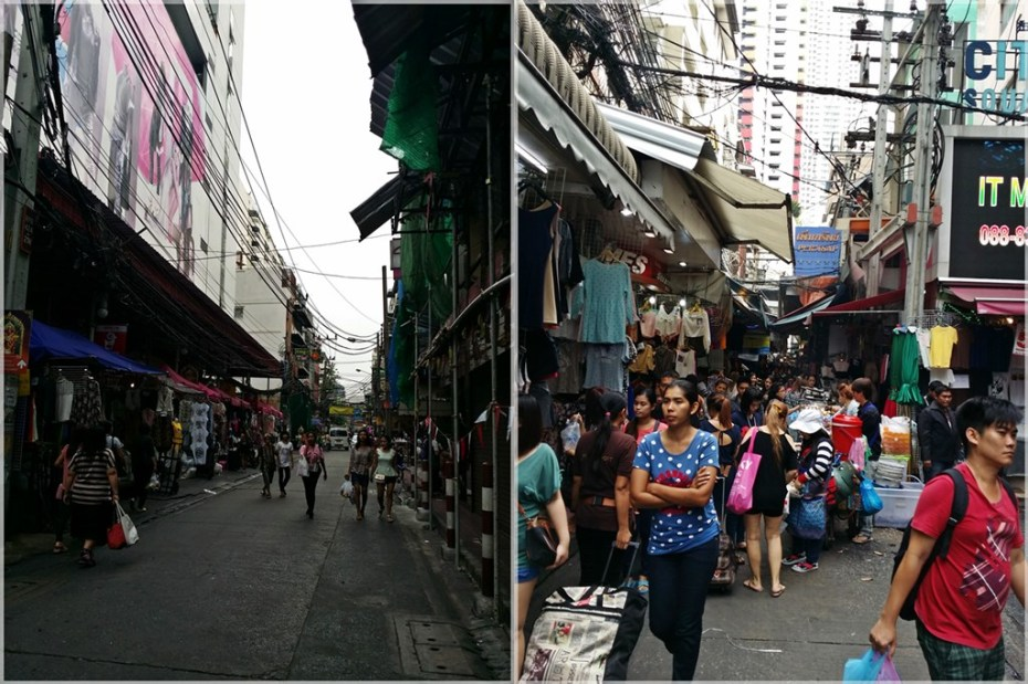 (Left) market was relatively quiet around 7am (Right) getting crowded as more stalls opened & customers streamed in