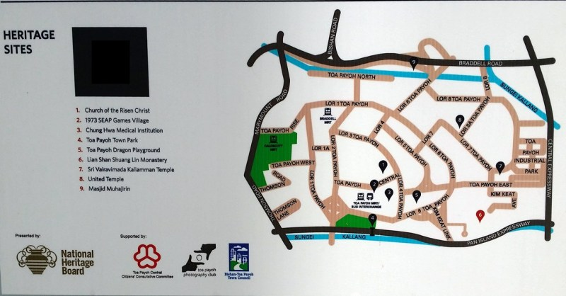 Toa Payoh heritage trail map
