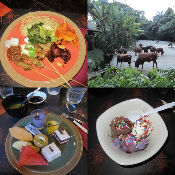 A sample of the buffet spread + the Ankole cattle