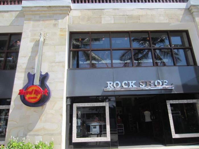 The main Hard Rock shop at Jl. Pantai Kuta