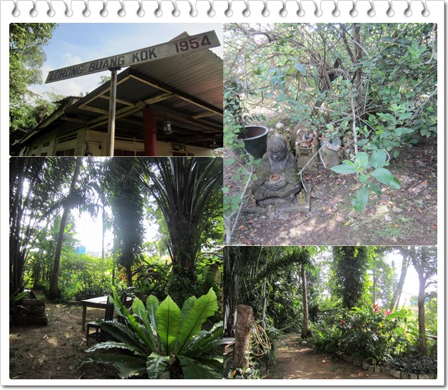 Can you spot the Earth God in the top right pic? See the backyard garden of the landlord in the bottom pics ;)