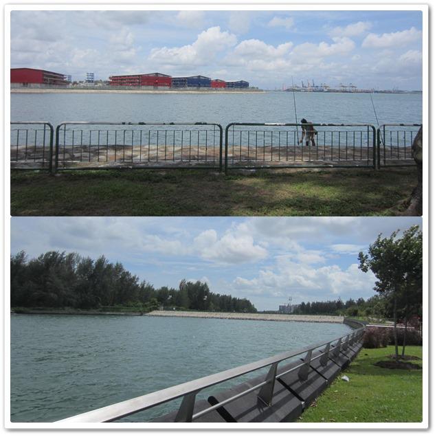 Views along the Punggol Promenade boardwalk