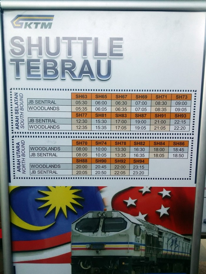 KTM Shuttle Tebrau wef 17/01/2016