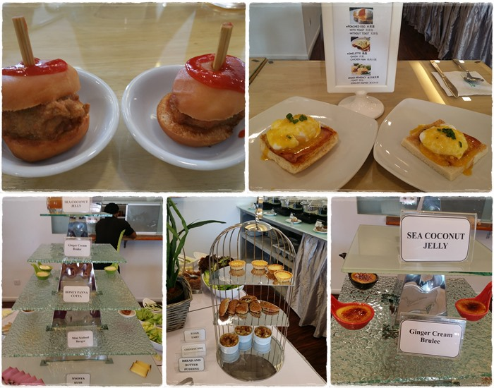 Some of the nice variety available at the breakfast buffet :)